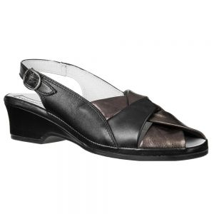 Sandały Comfort Shoes 4X/1154 Black