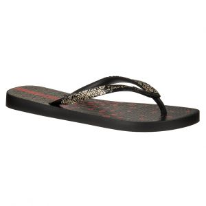 Japonki Ipanema Aloe Flower FEM 81702 Black/Black/Gold 23480